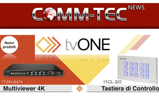 TvOne, nuovi prodotti in catalogo