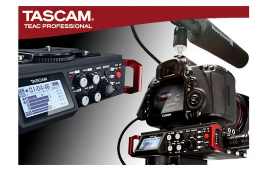 Tascam DR-701D, le DSLR hanno il loro 6 canali