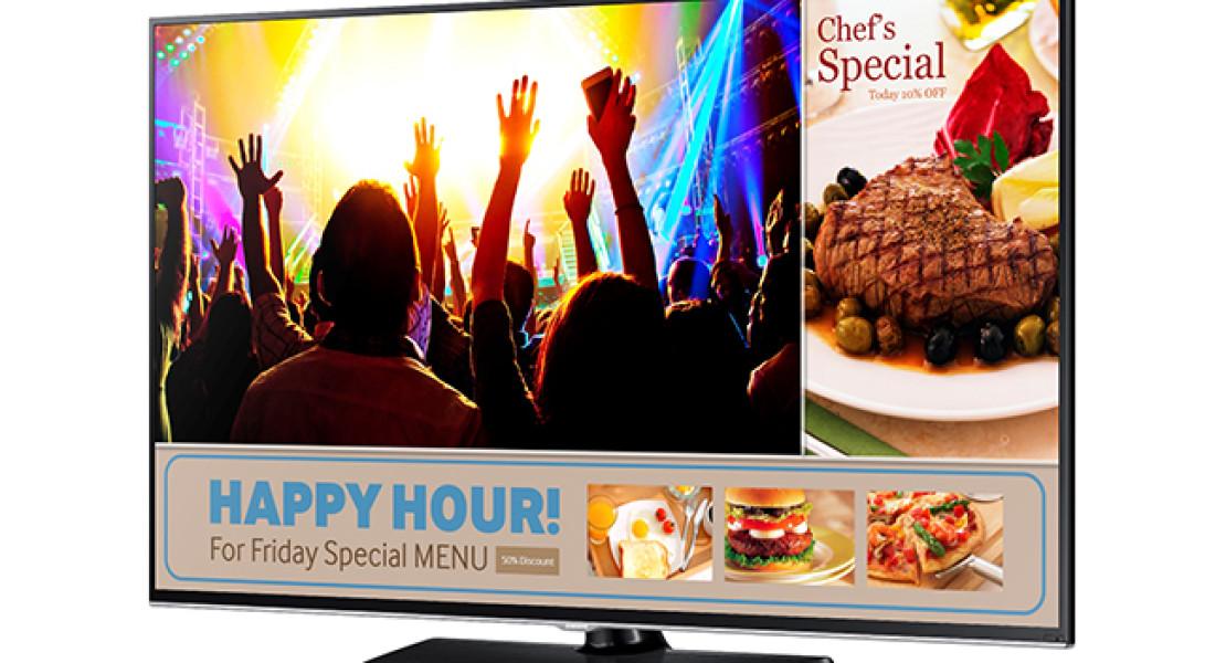 Smart Signage TV rivoluziona la comunicazione nei locali commerciali