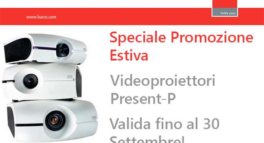 Videoproiettori Barco: la promozione è fino al 30 settembre