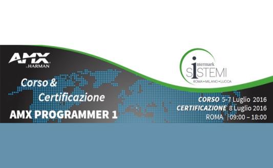 """Corso AMX """"Programmer 1"""", da Intermark a Roma il 5 luglio"""