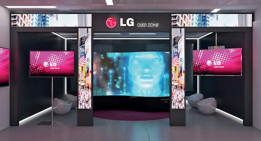 Lo showroom LG apre al digital signage