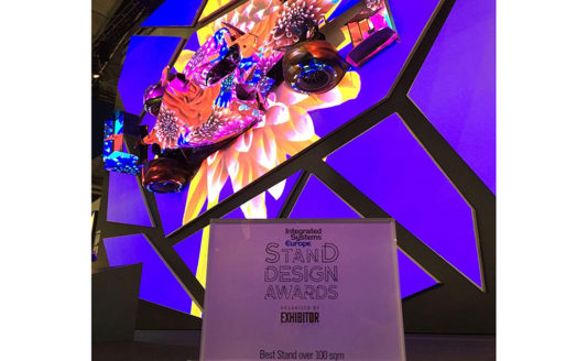 Epson vince il premio Stand Design Award di ISE 2017