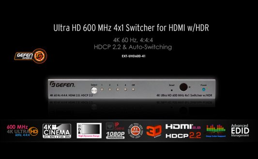Gefen EXT-UHD600-41, il 4K senza sottocampionamento