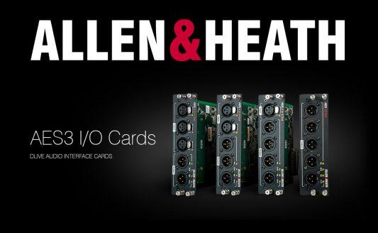 dLive Allen & Heath: più opzioni di interfaccia con le nuove schede