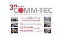 Training professionale: a giugno 3 corsi organizzati da Comm-Tec