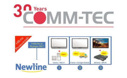 Newline, la promo speciale di Comm-Tec è valida fino al 30 giugno