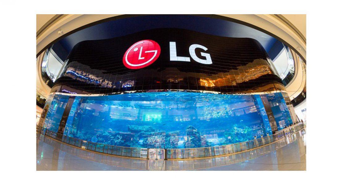 LG svela a Dubai il più grande videowall OLED mai realizzato