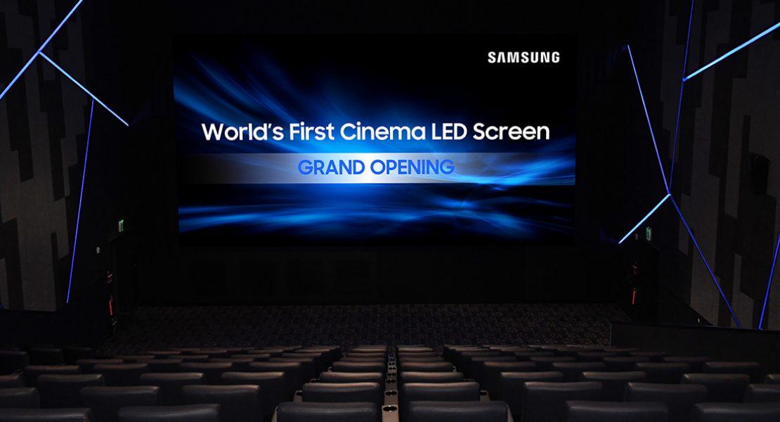 Samsung porta al debutto il primo Cinema LED Display