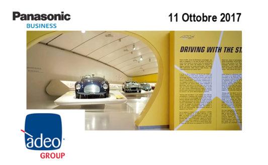 11 ottobre, al Museo Enzo Ferrari con Adeo e Panasonic