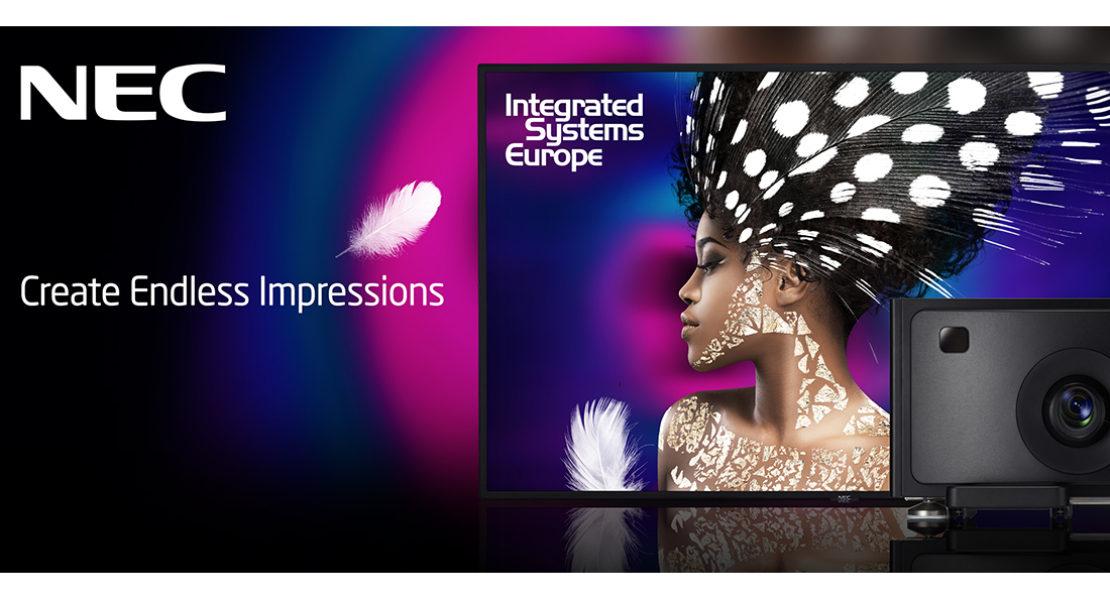 NEC a ISE 2018: Emozioni Infinite per il digital signage in bella mostra