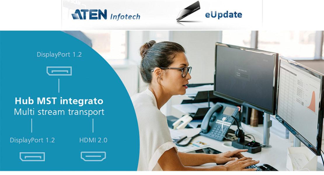 Aten CS1924M: tecnologia MST, DisplayPort e USB 3.0 in un colpo solo