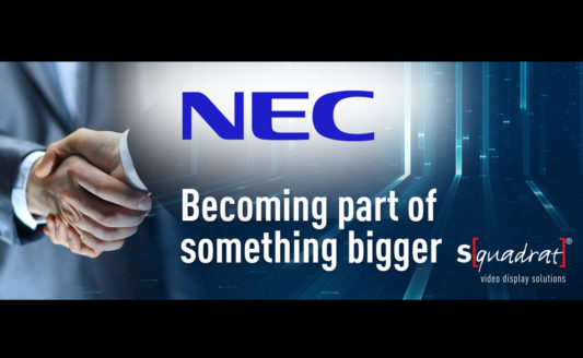 NEC acquisisce S[quadrat] e il portfolio visual LED cresce a dismisura