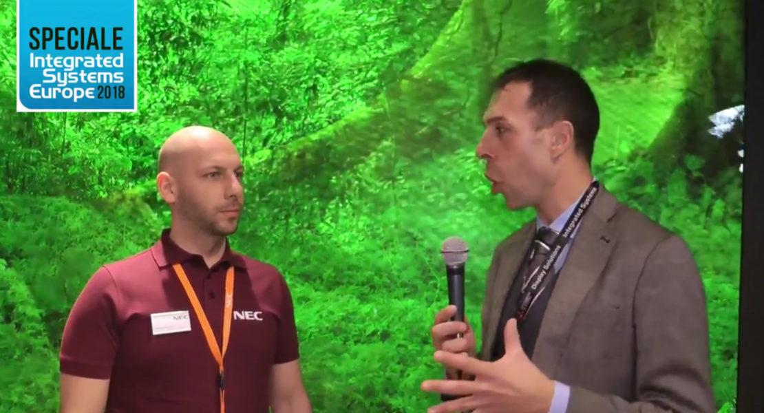 NEC a ISE 2018, videoproiezione e Ledwall