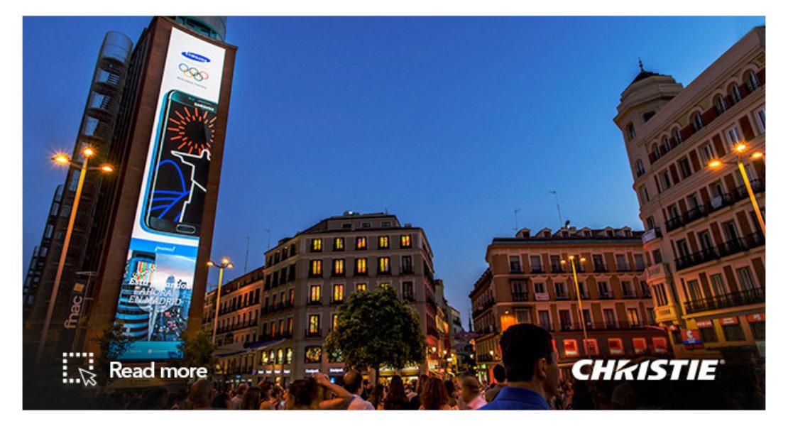 Christie porta il più grande DOOH spagnolo a Madrid, in Plaza Callao