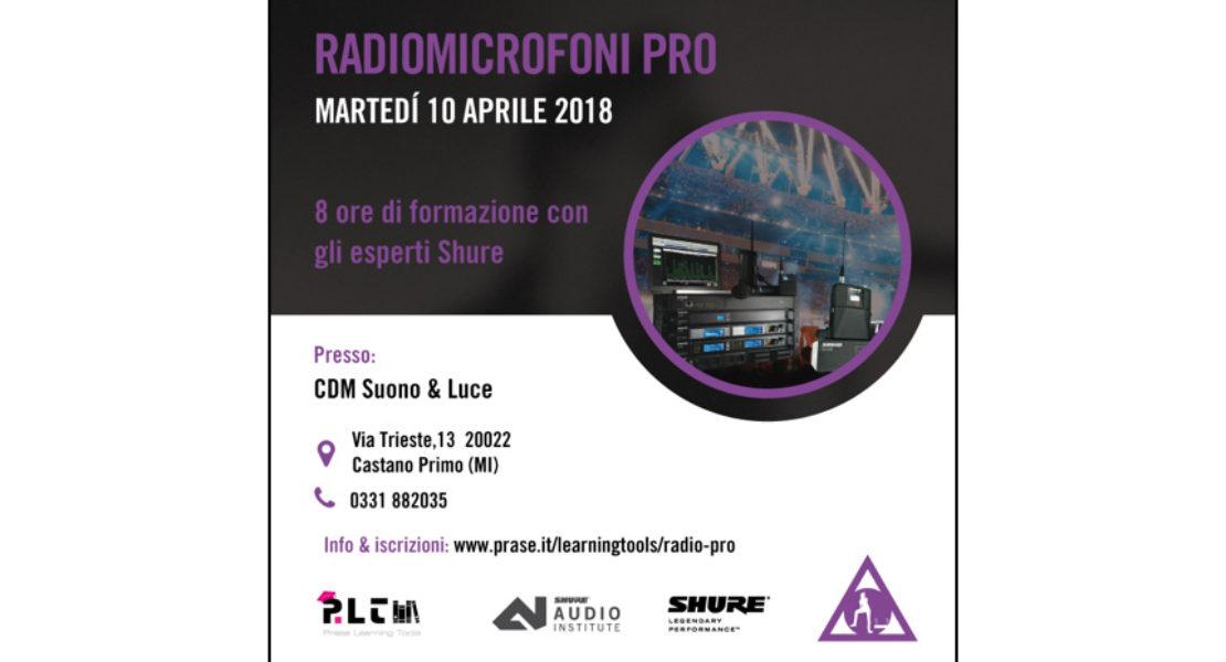 Masterclass Radio Pro, formazione aperta con Prase il 10 aprile