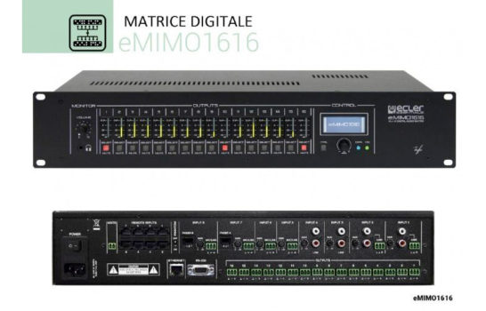 Ecler presenta la matrice digitale eMIMO1616