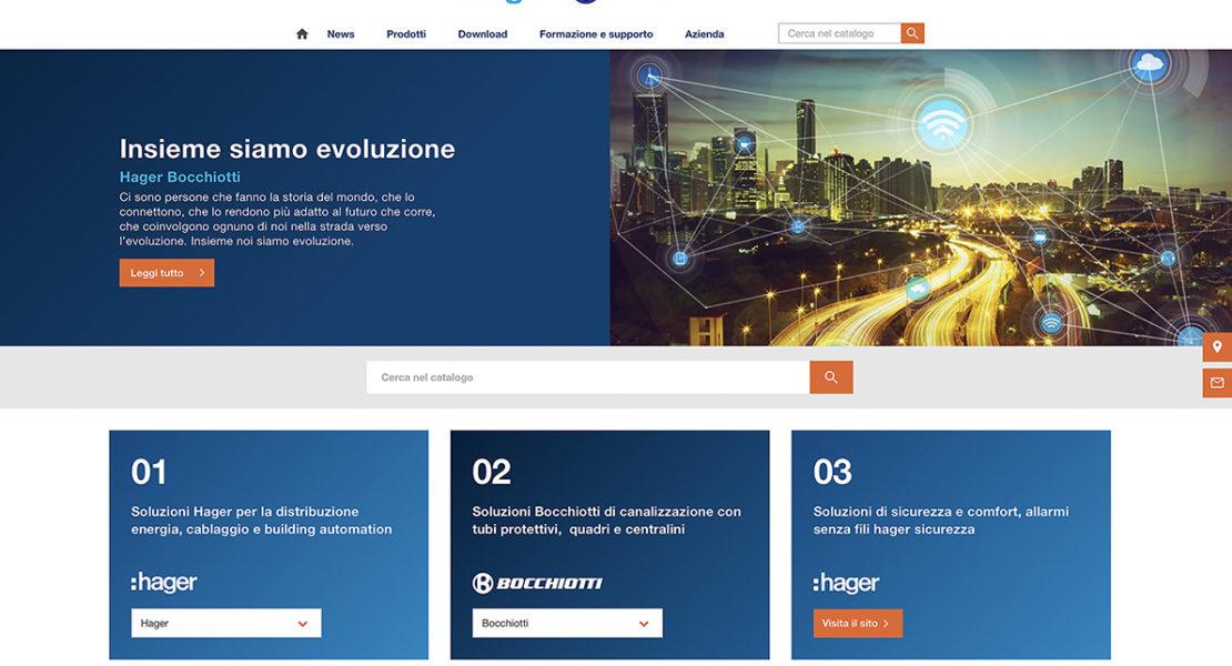 Syntegration in chiave digitale: Hager Bocchiotti lancia il nuovo sito web