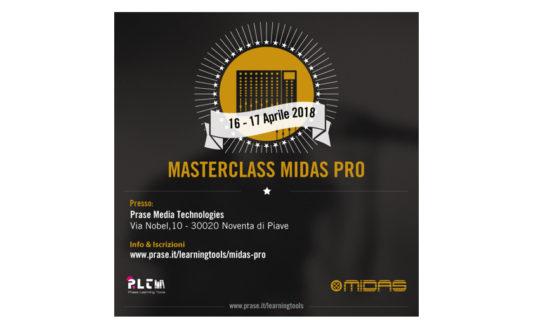 Corso Prase Masterclass Midas Pro, la certificazione arriva in due giorni