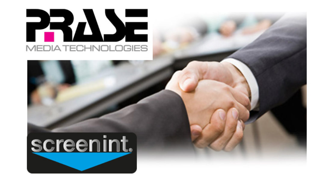 Prase, stretto l'accordo di distribuzione in esclusiva con Screenint