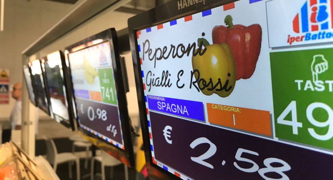 I display HANNspree migliorano l'esperienza di acquisto del cliente finale e ottimizzano il processo di pricing nel Retail e nelle attività commerciali
