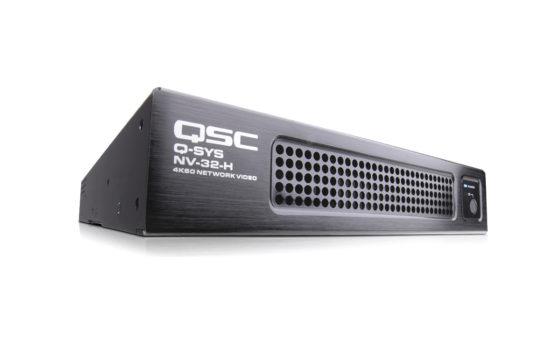 QSC NV-32-H, nasce la distribuzione video nativa all'interno dell'ecosistema Q-SYS