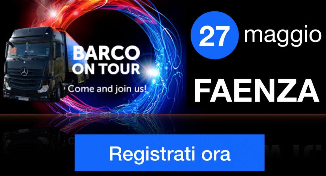 Barco On Tour 2019, il 27 maggio tappa da Comm-Tec