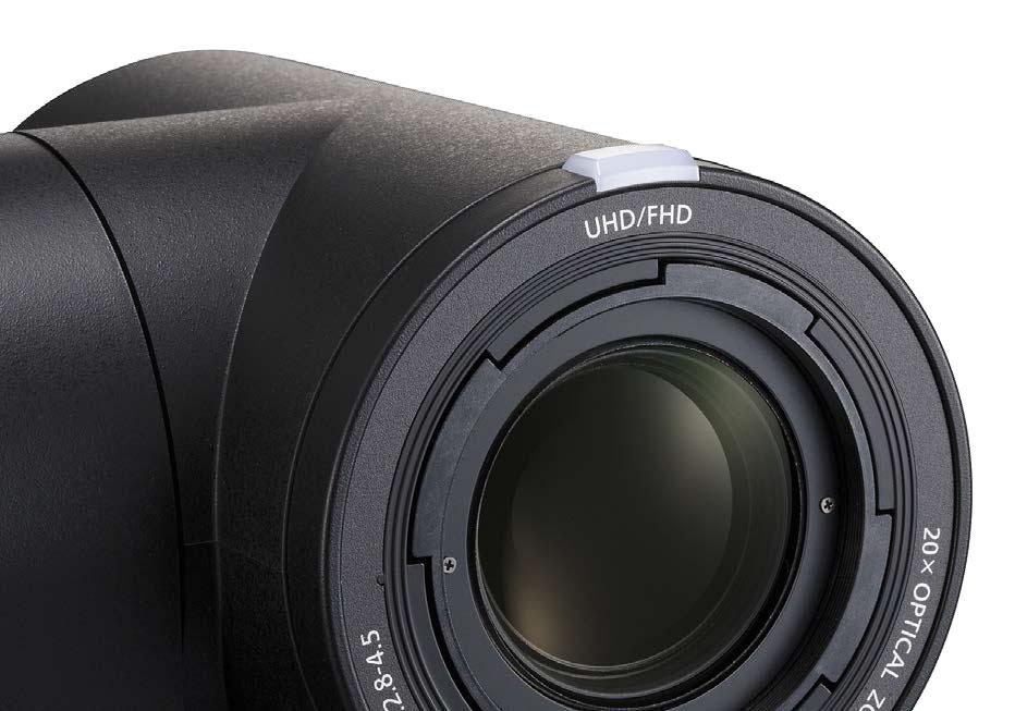 L'obiettivo utilizzato nelle nuove telecamere è un potente zoom 20x con stabilizzatore ottico delle immagini.