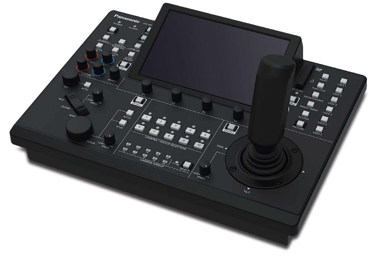 L'AW-RP150 è il controller remoto dedicato alla nuova linea PTZ. Apporta significativi miglioramenti rispetto ai modelli precedenti