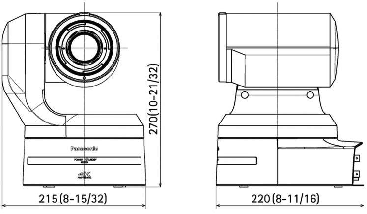 le compatte dimensioni della telecamera AW-UE150 facilitano l'installazione.