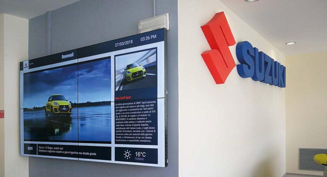 Il Digital Signage BenQ per Suzuki Italia