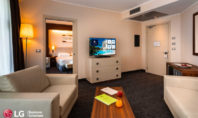 LG rinnova l'offerta TV nel Doubletree di Olbia, del gruppo Hilton