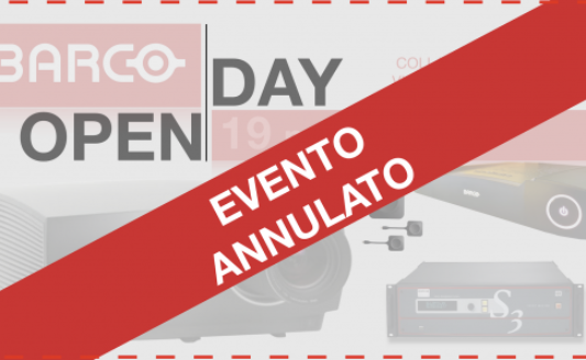 BARCO OPEN DAY: ANNULLATO