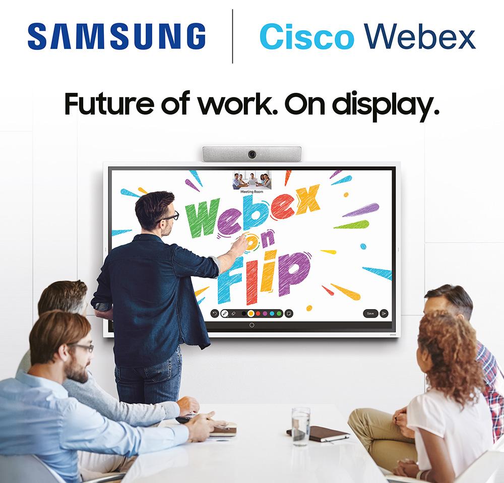 Samsung Webex on Flip