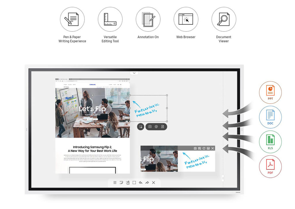 Samsung Flip 2 features