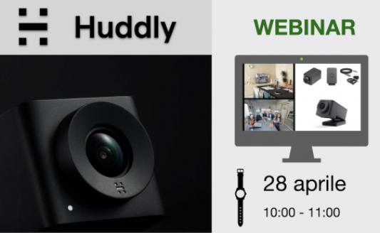 Webinar Huddly: martedì 28 aprile, dalle 10 alle 11
