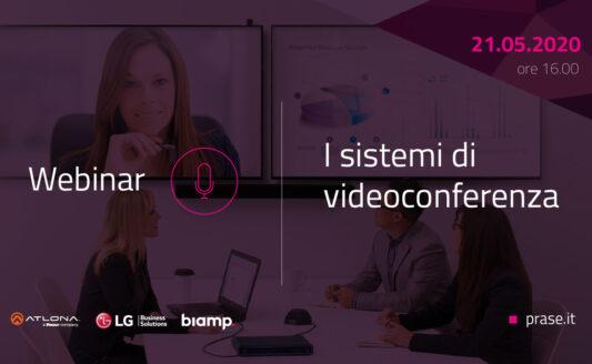 Nuovo webinar Prase dedicato alle soluzioni per video conferenza