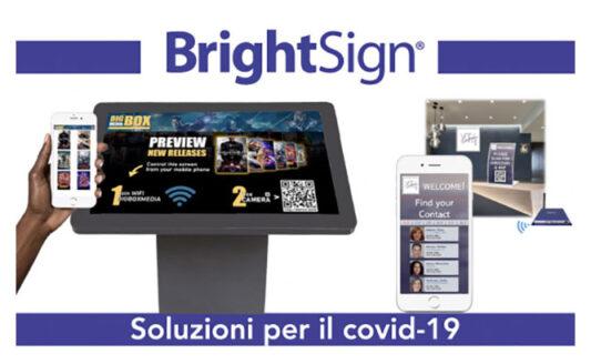 BrightSign soluzioni per contrastare il Covid-19